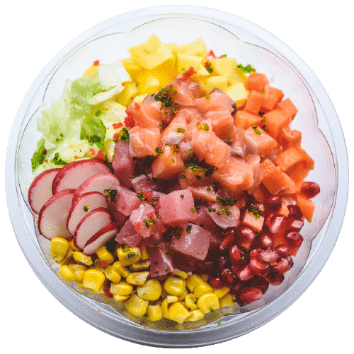 LOSOS&TUNA POKE: sashimi